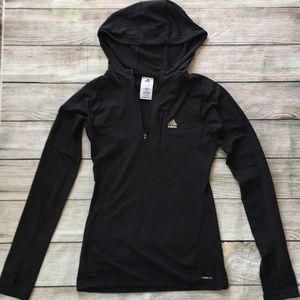 🔺SOLD🔺Adidas Climalite Black Hoodie Pullover
